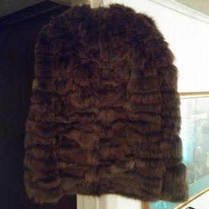 3/4 Length Long Haired Fox Jacket